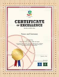 Free Certificate Of Excellence Template Certificate Of Excellence Template In Sport Theme For Basketball