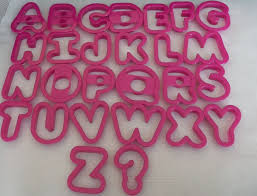 wilton alphabet letters cookie cutters play doh cookie cutters