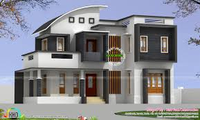 2314 sq ft 4 bhk modern curved roof mix home kerala home design