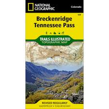 Breckenridge Ski Map 109 Breckenridge Tennessee Pass Trail Map National Geographic Store