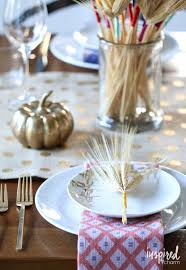 diy thanksgiving table settings diy color wrapped wheat inspired by charm