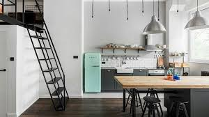 cuisine du frigo smeg réfrigérateur vintage pour la cuisine côté maison