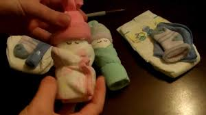 How To Make A Miniature Diaper Baby For Baby Shower Youtube