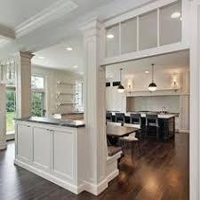 Replace Banister With Half Wall Replace Railing With Counter Top Half Bar Storage For The Home