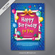 birthday ecard free colorful birthday card vector free