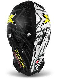rockstar motocross helmet airoh black rockstar terminator open vision mx helmet airoh