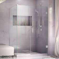 39 Shower Door Shop Dreamline Unidoor Plus 39 In To 39 In W Frameless Chrome