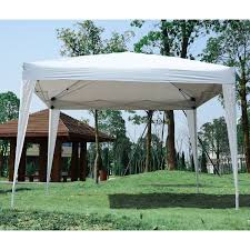 white gazebo outsunny10x10ft folding tent gazebo pop up wedding tent