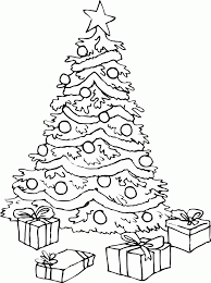 coloring pages christmas tree animebgx