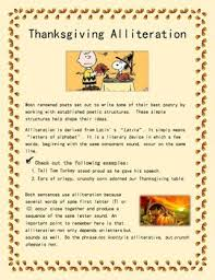 thanksgiving alliteration poem seasonal poetry by academic
