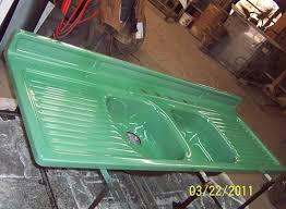 Farmhouse Drainboard Sinks Retro Renovation - Enamel kitchen sink