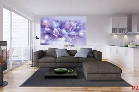 mural composition of flowers in purple gamut wall mural composition of flowers in purple gamut