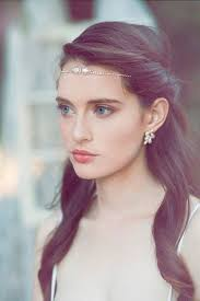 casual long hair wedding hairstyles boho forehead bands beautiful halo crowns crown boho and models