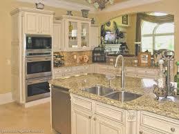 kitchen antiqued white kitchen cabinets kitchens