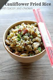 Bacon Main Dishes - cauliflower fried rice with bacon and chicken grain u2013free aip
