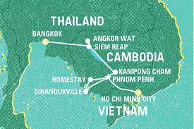 Saigon On World Map by Ultimate Cambodia Cambodia Tours Geckos Adventures Us