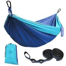 kootek blue lightweight nylon parachute hammocks portable double