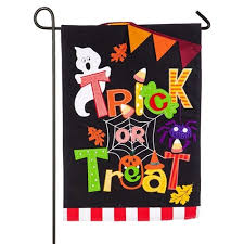 trick or treat burlap halloween garden flag halloween garden