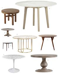 round marble kitchen table on the hunt for a round dining table the fox and she