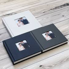 professional wedding albums classic leather cover modern acrylic cover