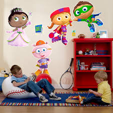 Giant Wall Stickers For Kids The Official Pbs Kids Shop Super Why Giant Wall Decals