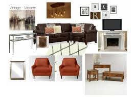 the collected interior vintage modern family room design board