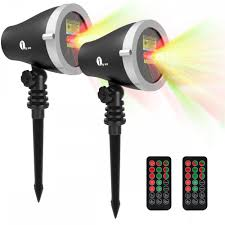 Outdoor Light Projectors Christmas by 2 Pack 1byone Aluminum Alloy Outdoor Laser Christmas Light