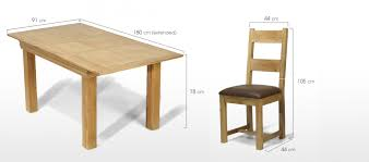 Extended Dining Table Constance Oak 140 180 Cm Extending Dining Table And 6 Chairs