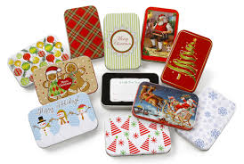 gift card tin box assorted
