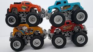 monster truck racing video monster trucks racing cars for kids with dlan u0027s toys trucks videos