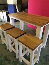 butcher block kitchen island breakfast bar solid oak handmade breakfast bar 3 stools butchers block
