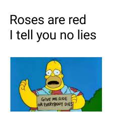 Meme Poem - toasted everybody dies simpsons meme memes