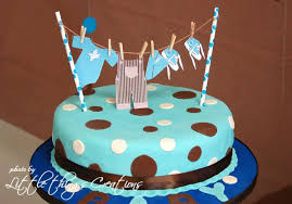 baby boy cakes for baby shower brown and blue clothes and airplane baby shower party ideas