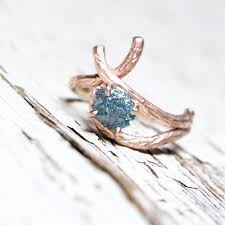 tree branch engagement ring blue branch engagement ring gold 14k pink teal