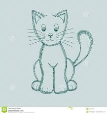 cute cat drawing vector stock photography image 28786052
