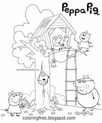 peppa pig colouring pages peppa pig friends studying math