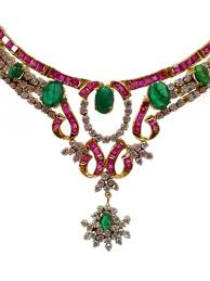 emerald gemstone necklace images Exclusive ruby emerald and cz necklace earrings in silver gleam jpg