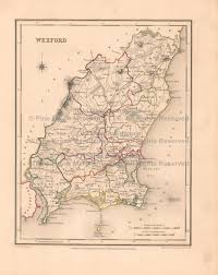Blank Map Of Counties Of Ireland by Wexford County Ireland Old Map Lewis 1837 Digital Image Scan