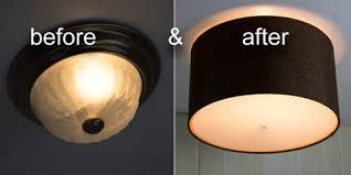 Used Ceiling Lights Flush Mount Conversion Replacing Ceiling Lights