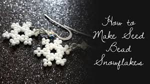 how to make seed bead snowflakes