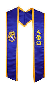 graduation stoles alpha phi omega fraternity sorority graduation stole