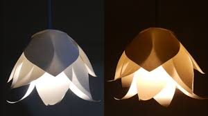 Paper Pendant Light Diy Flower L Learn How To Make A Paper Flower Lshade For A
