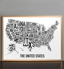 United States Map Poster by United States Map 24