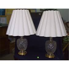 Waterford Table Lamps 2 Piece Matching Cut Crystal Glass Table Lamps Waterford No Marks