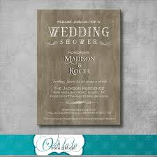 Couple S Shower Invitations Photo Rustic Elegant Wedding Shower Image