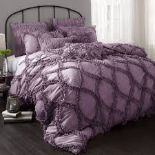 Black And Purple Bed Sets Bedroom Glamorous Purple Bedding Set Picture Purple Bedding