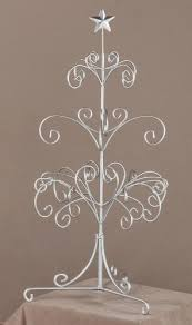 modern silver painted metal ornament tree accessory