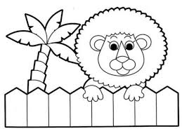 coloring pages animals cute animal coloring pages for kids baby