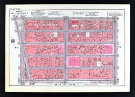 New York City Time Square Map by 1955 Bromley New York City Map Theater District Times Square 42nd