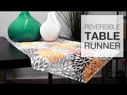 how to make a table runner with pointed ends how to sew a reversible table runner tutorial youtube